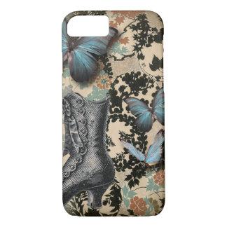 Coque iPhone 8/7 Papillon vintage sophistiqué de chaussure de