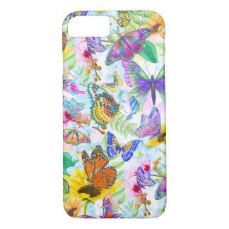 Coque iPhone 8/7 Papillons et fleurs