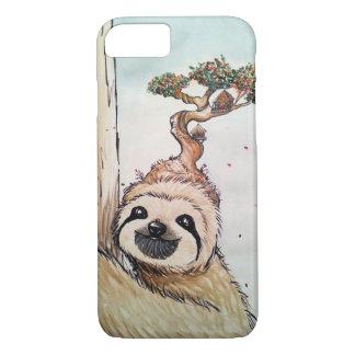 Coque iPhone 8/7 Paresse animale mignonne avec la cabane dans un