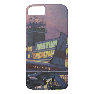 Coque iPhone 8/7 Passagers vintages d'affaires sur l'avion à
