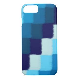 Coque iPhone 8/7 Patchwork bleu