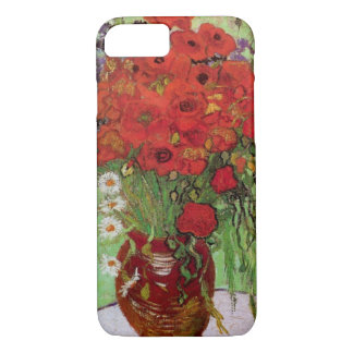 Coque iPhone 8/7 Pavots de Van Gogh et marguerites rouges, fleurs