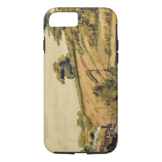 Coque iPhone 8/7 Paysage avec le train, 1854 (la semaine et crayon