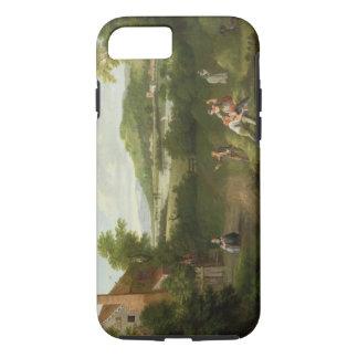 Coque iPhone 8/7 Paysage avec les ouvriers agricoles, c.1730-40