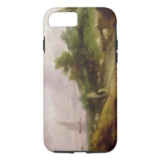 Coque iPhone 8/7 Paysage côtier avec un berger et son troupeau, c