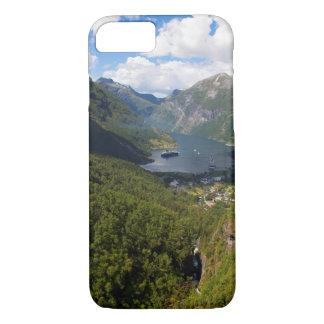 Coque iPhone 8/7 Paysage de fjord de Geiranger, Norvège
