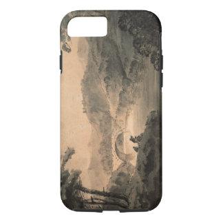 Coque iPhone 8/7 Paysage (lavage de stylo et d'encre)