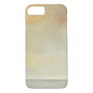 Coque iPhone 8/7 Paysage marin avec le coucher du soleil orange