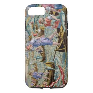 Coque iPhone 8/7 Pêche avec des filets et des tridents dans la baie