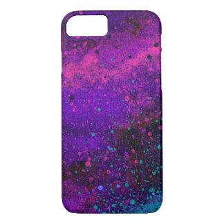 Coque iPhone 8/7 Peignez la texture d'éclaboussure dans pourpre et