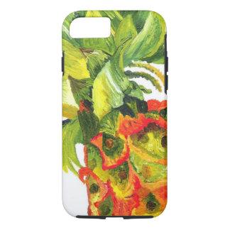 Coque iPhone 8/7 Peinture d'ananas (art de K.Turnbull)