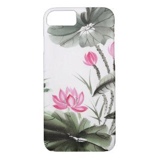 Coque iPhone 8/7 Peinture d'aquarelle de fleur de Lotus