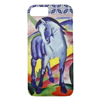 Coque iPhone 8/7 Peinture vintage de beaux-arts de cheval bleu de