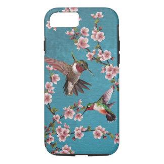 Coque iPhone 8/7 Peinture vintage de colibri de style