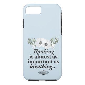 Coque iPhone 8/7 Pensée - cas introverti floral de respiration de