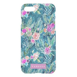 Coque iPhone 8/7 PERSONNALISABLE floral de paradis tropical de