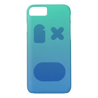 Coque iPhone 8/7 PhoneCase bleu-vert