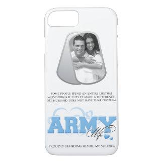 Coque iPhone 8/7 Photo d'étiquettes de chien d'épouse d'armée