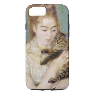 Coque iPhone 8/7 Pierre une femme de Renoir | avec un chat