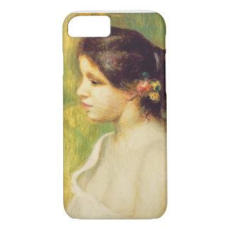 Coque iPhone 8/7 Pierre une jeune femme de Renoir   avec des fleurs