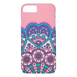 Coque iPhone 8/7 Pink colorful mandala