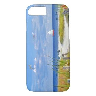 Coque iPhone 8/7 Plage, bord de la mer, et oiseaux,