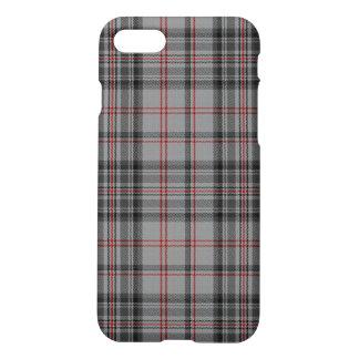 Coque iPhone 8/7 Plaid de tartan noir rouge de charbon de bois gris