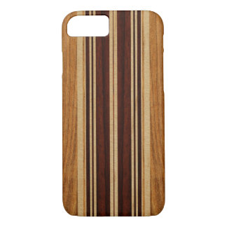 Coque iPhone 8/7 Planche de surf en bois de Koa de Faux de Nalu Lua