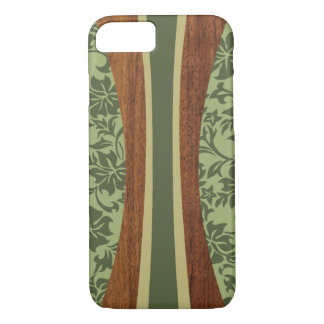 Coque iPhone 8/7 Planche de surf hawaïenne en bois de Faux de
