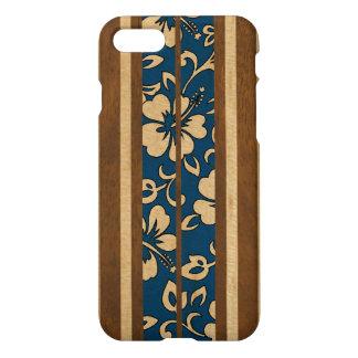 Coque iPhone 8/7 Planche de surf hawaïenne vintage en bois de Faux