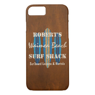 Coque iPhone 8/7 Planches de surf de Hawaïen de monogramme de