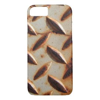 Coque iPhone 8/7 Plat rouillé de diamant en métal
