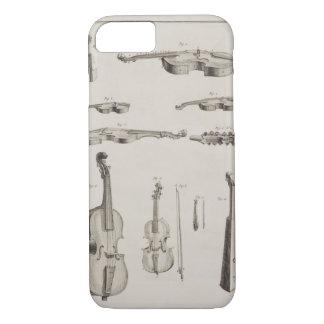 Coque iPhone 8/7 Plat XI : Les instruments ont joué avec un arc, de