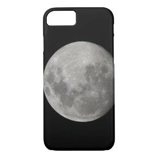 Coque iPhone 8/7 Pleine lune en noir et blanc. Crédit comme :