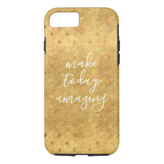 Coque iPhone 8/7 Points chics d'or