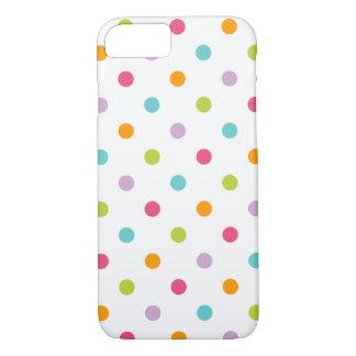 Coque iPhone 8/7 Pois coloré Girly mignon
