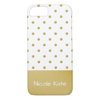 Coque iPhone 8/7 Pois élégant moderne d'or
