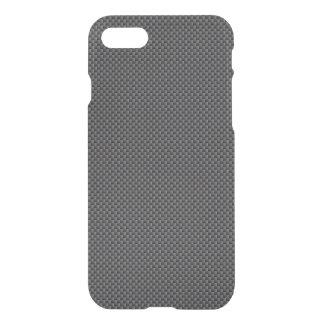 Coque iPhone 8/7 Polymère noir et gris de fibre de carbone