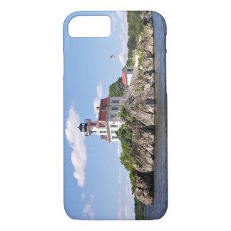 Coque iPhone 8/7 Pomham bascule le phare, Île de Rhode