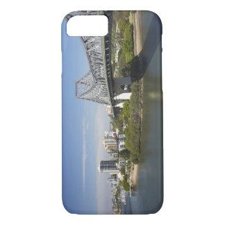 Coque iPhone 8/7 Pont d'histoire, rivière de Brisbane, et kangourou