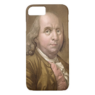 Coque iPhone 8/7 Portrait de Benjamin Franklin (1706-90), de 'le