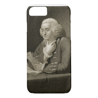 Coque iPhone 8/7 Portrait de Benjamin Franklin, gravé par Thomas