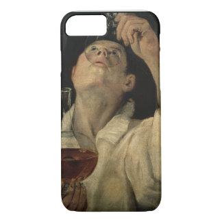 Coque iPhone 8/7 Portrait d'un homme buvant, c.1581-4 (huile sur le