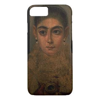 Coque iPhone 8/7 Portrait d'une femme portant un or pectoral, tombe