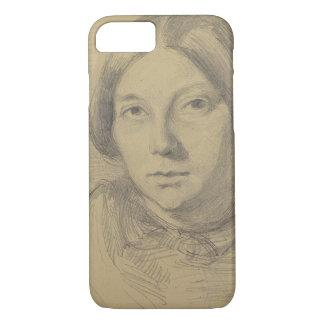 Coque iPhone 8/7 Portrait d'une femme, probablement George Sand