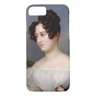 Coque iPhone 8/7 Portrait d'une jeune femme, 1827 (huile sur la