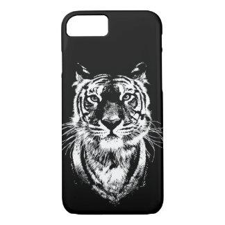 Coque iPhone 8/7 Portrait impressionnant de chat de tigre. Faune