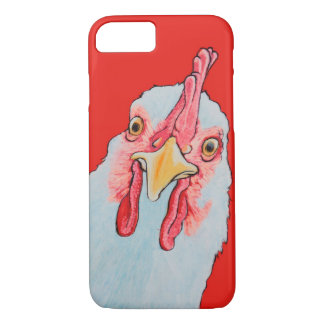 Coque iPhone 8/7 Poulet fâché en rouge