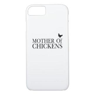 Coque iPhone 8/7 Poulets de Morther autour d'amant d'animal