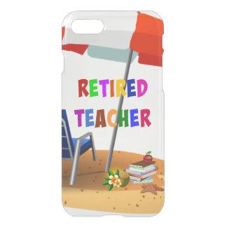 Coque iPhone 8/7 Professeur retraité, scène de plage (révisée)